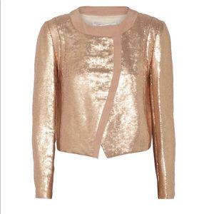 Diane Von Furstenberg rose gold sequin jacket